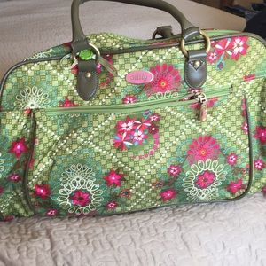 Oilily bag/diaper bag and matching wallet.